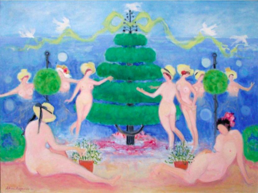 029 Celebration of the Gozzoli, 2001, oil, 36x48 in..png