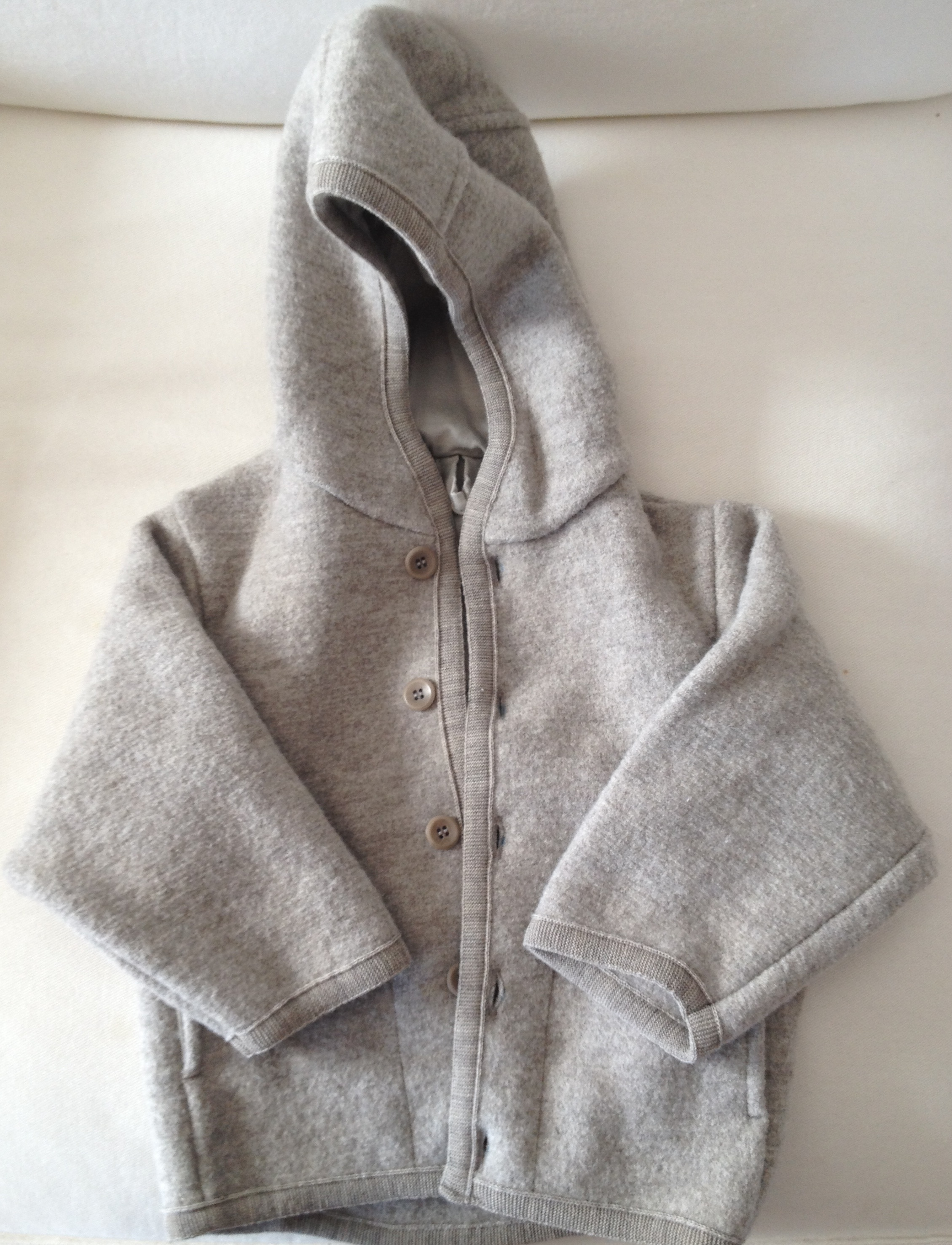 Disana Boiled Wool Jacket, 100% organic wool and 100% organic cotton lining.