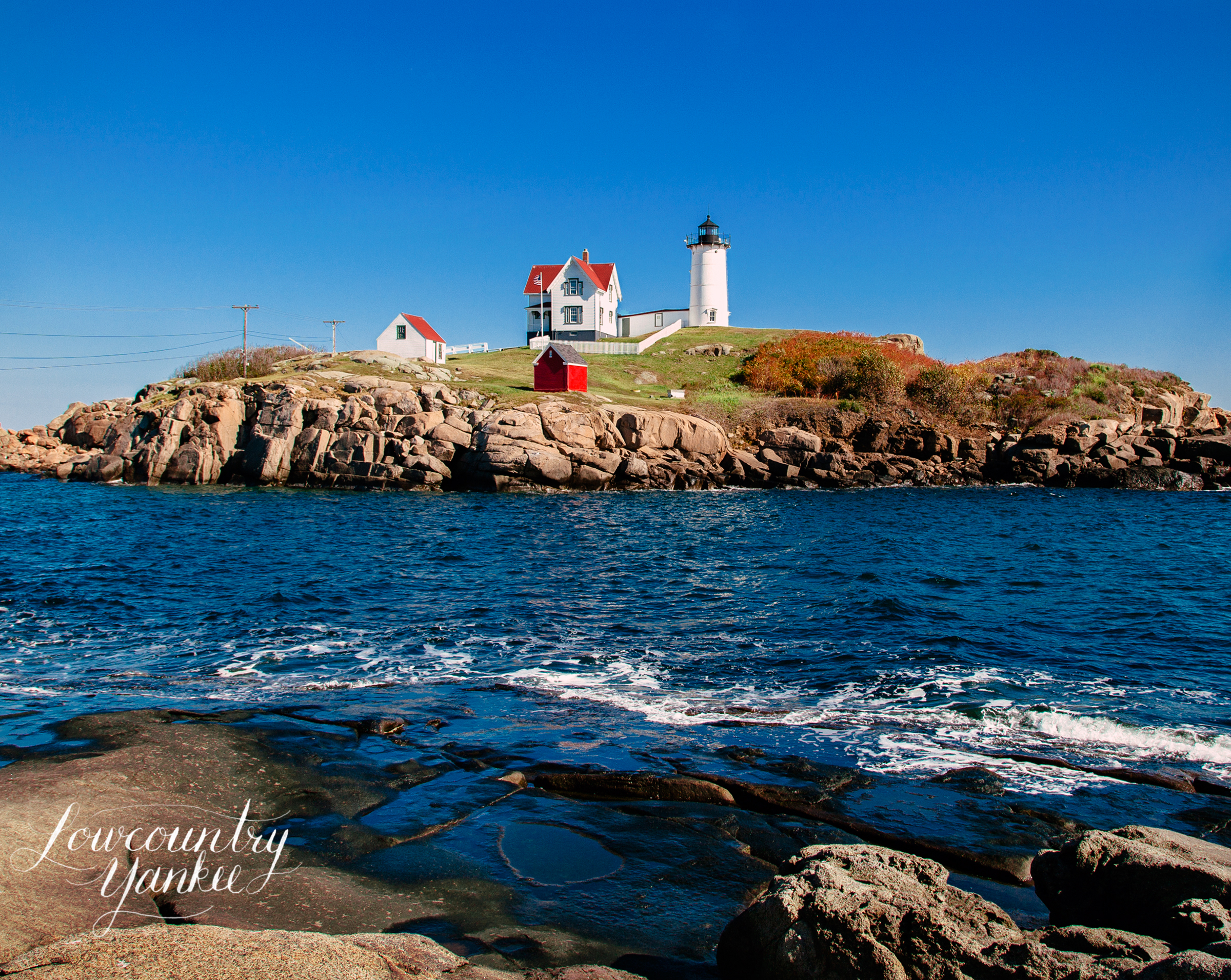 Nubble Lighthouse.  This image doesn't do that water justice.