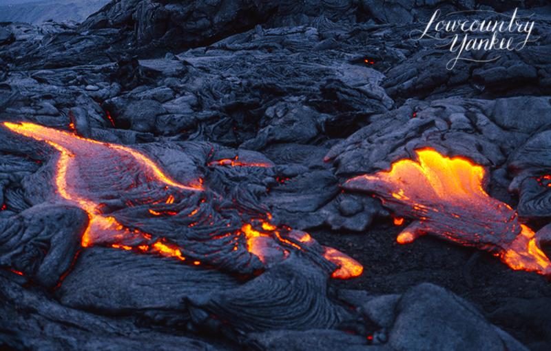 Thanksgiving weekend 2004. Hawai'iVolcanoes National Park, Big Island, HI. Slide film.