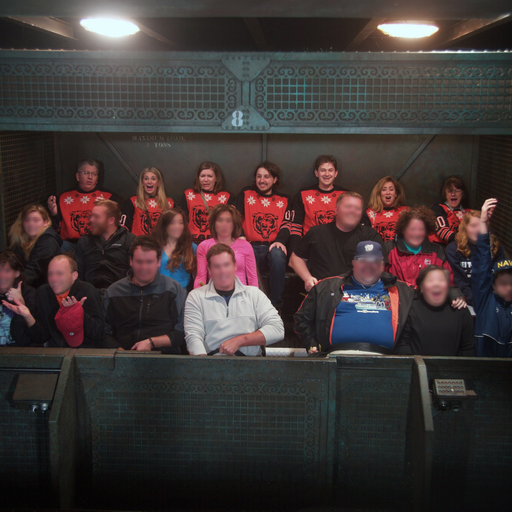 Owning the back row on Tower of Terror.