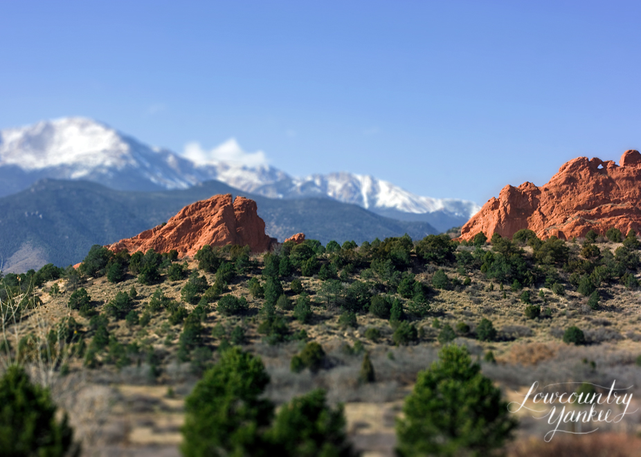 Garden of the Gods and Pikes Peak, Colorado. 2009