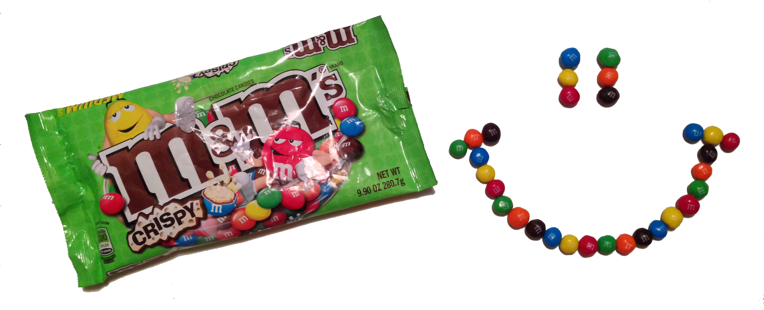 Many m&ms were consumed during the shooting of this photo.