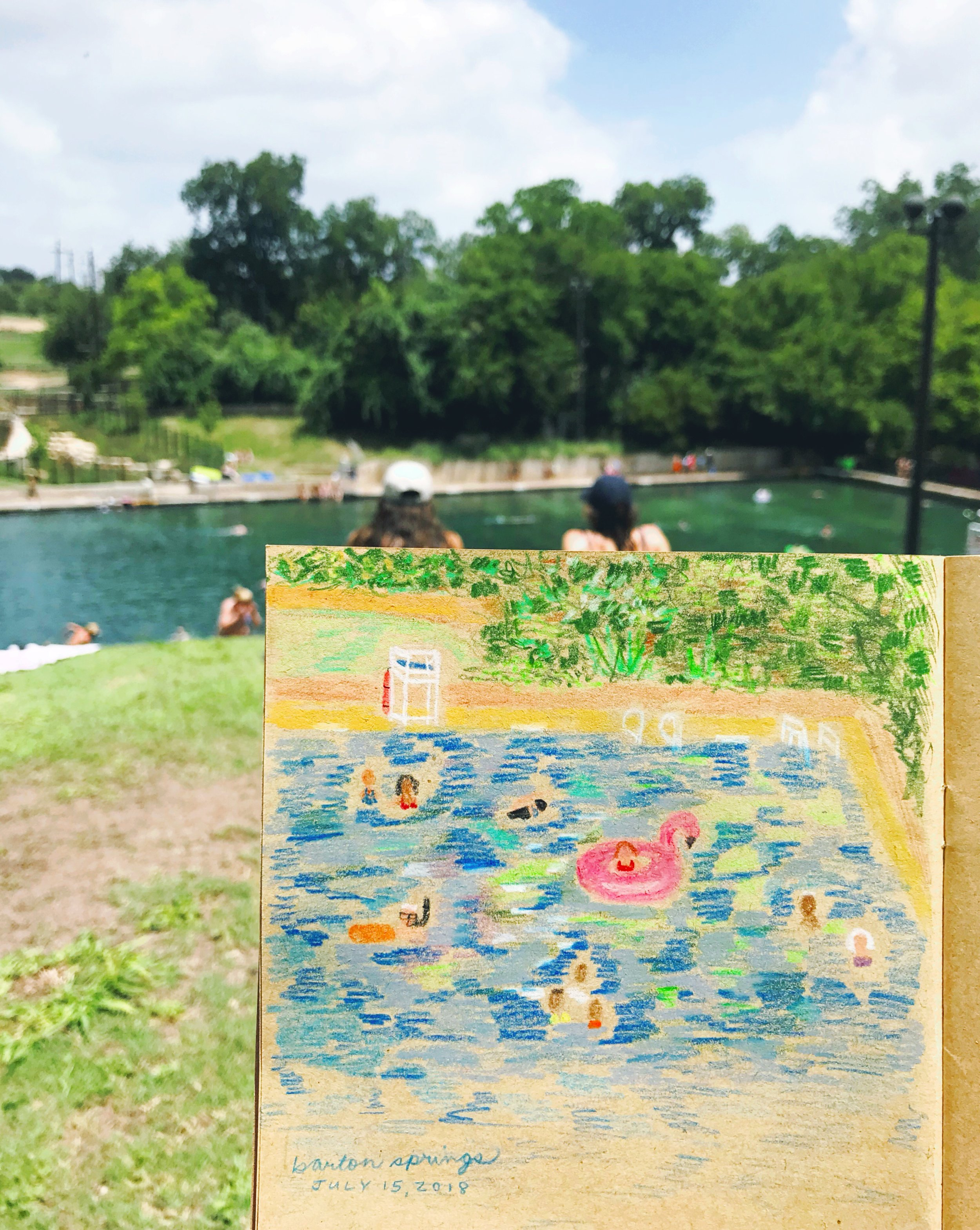A good day at Barton Springs.