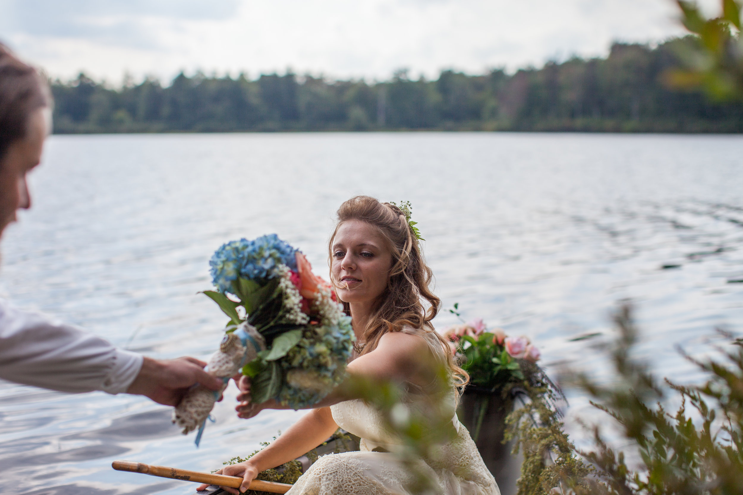 THE COUPLE'S FIRST CANOE RIDE