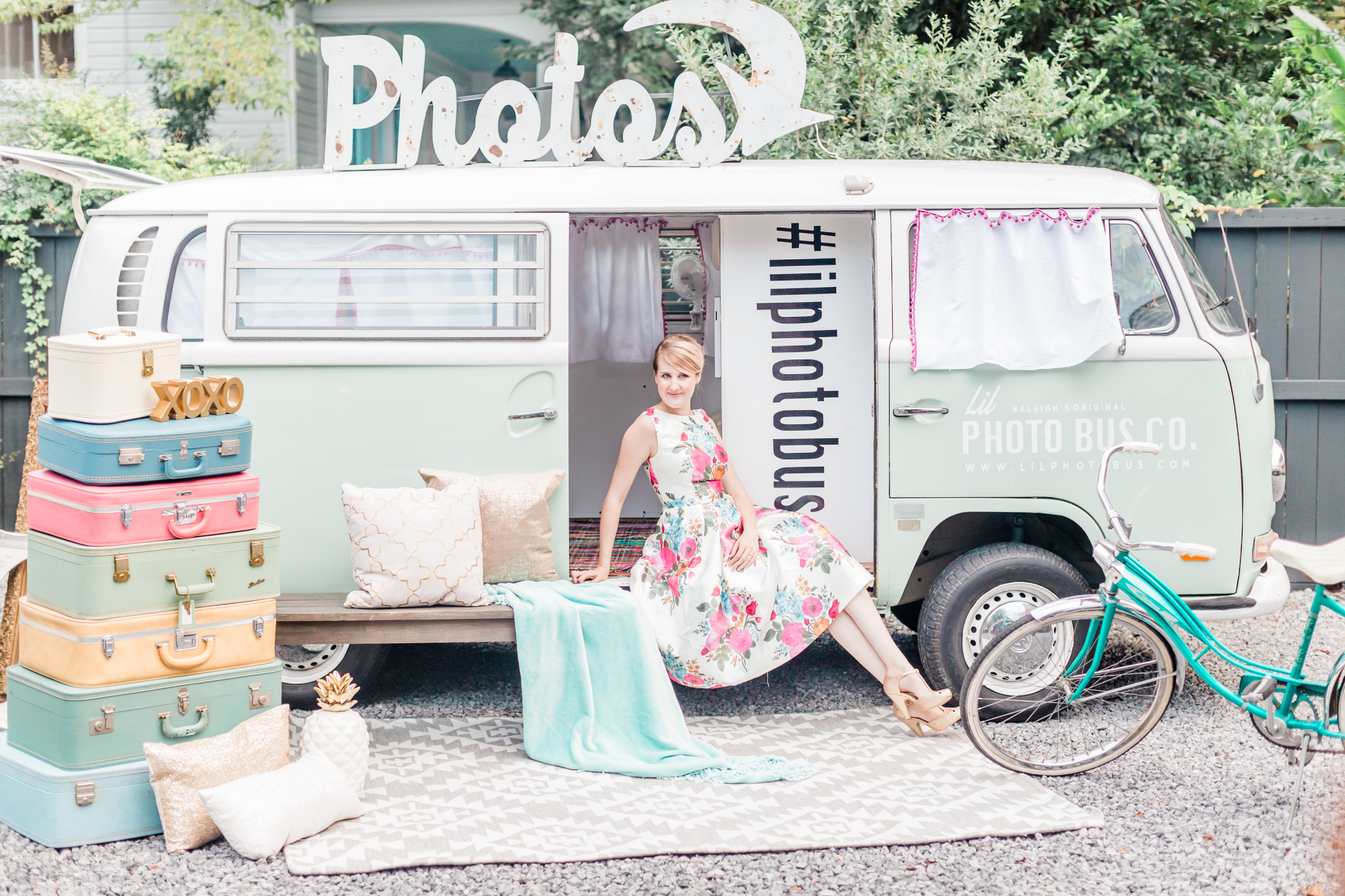 Model:  Sarah Houston  Planner/Designer:  Raise the Ruth Events  VW Bus:  Lil Photo Bus Co  Rentals:  MadHatter Vintage  Hair & Makeup Artist:  Natty Contrera Artistry