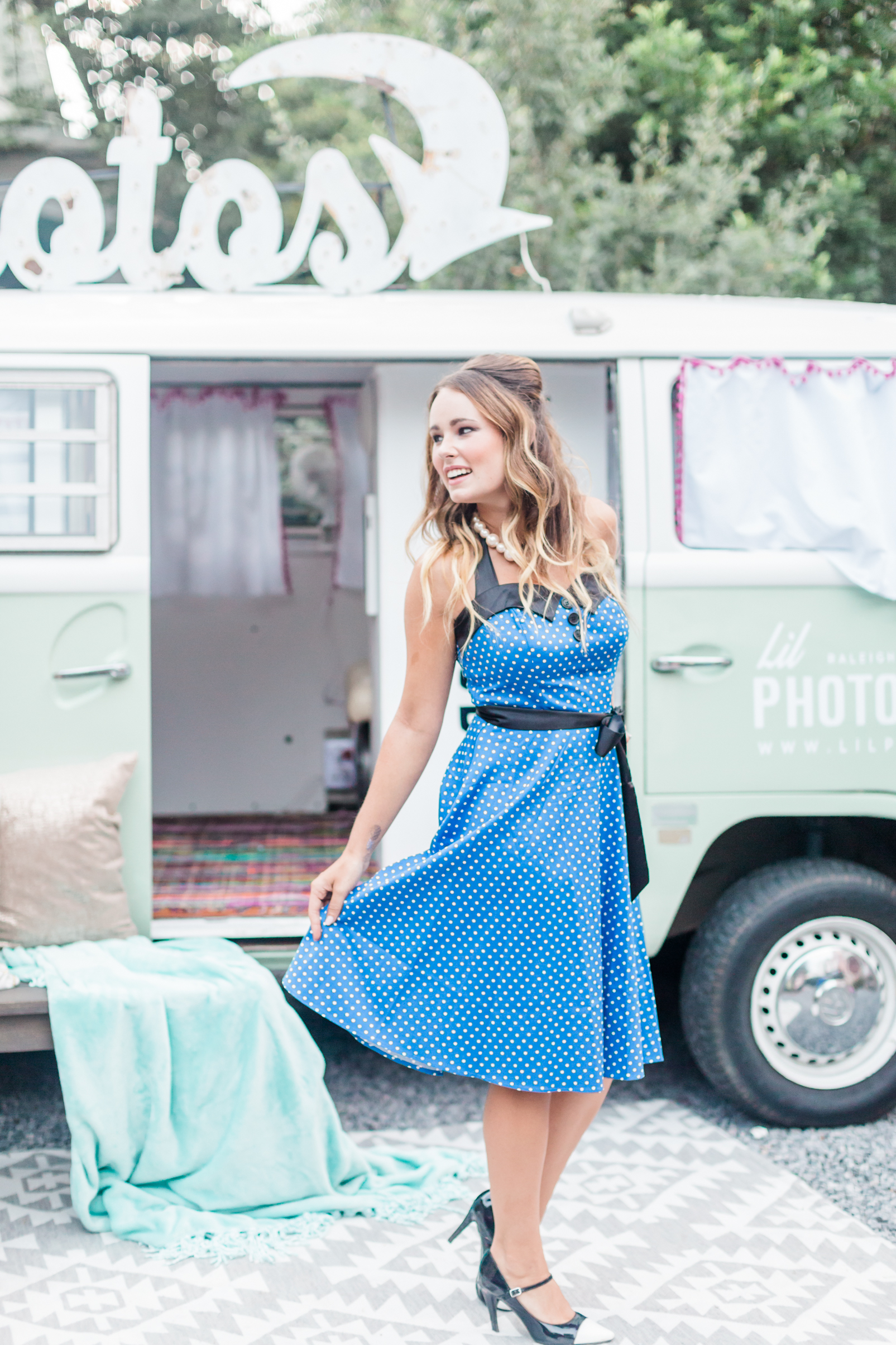 Model:  Jordan Blackwell  Planner/Designer:   Raise the Ruth Events   VW Bus:   Lil Photo Bus Co   Rentals:   MadHatter Vintage   Hair & Makeup Artist:   Natty Contrera Artistry
