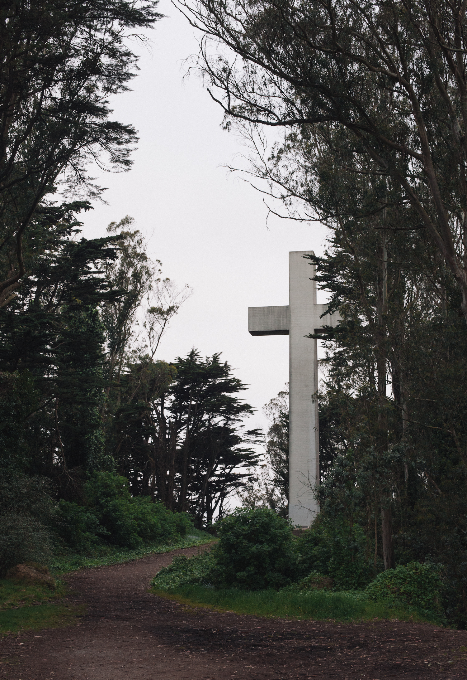 The cross at Mt. Davidson, made famous by Dirty Harry.