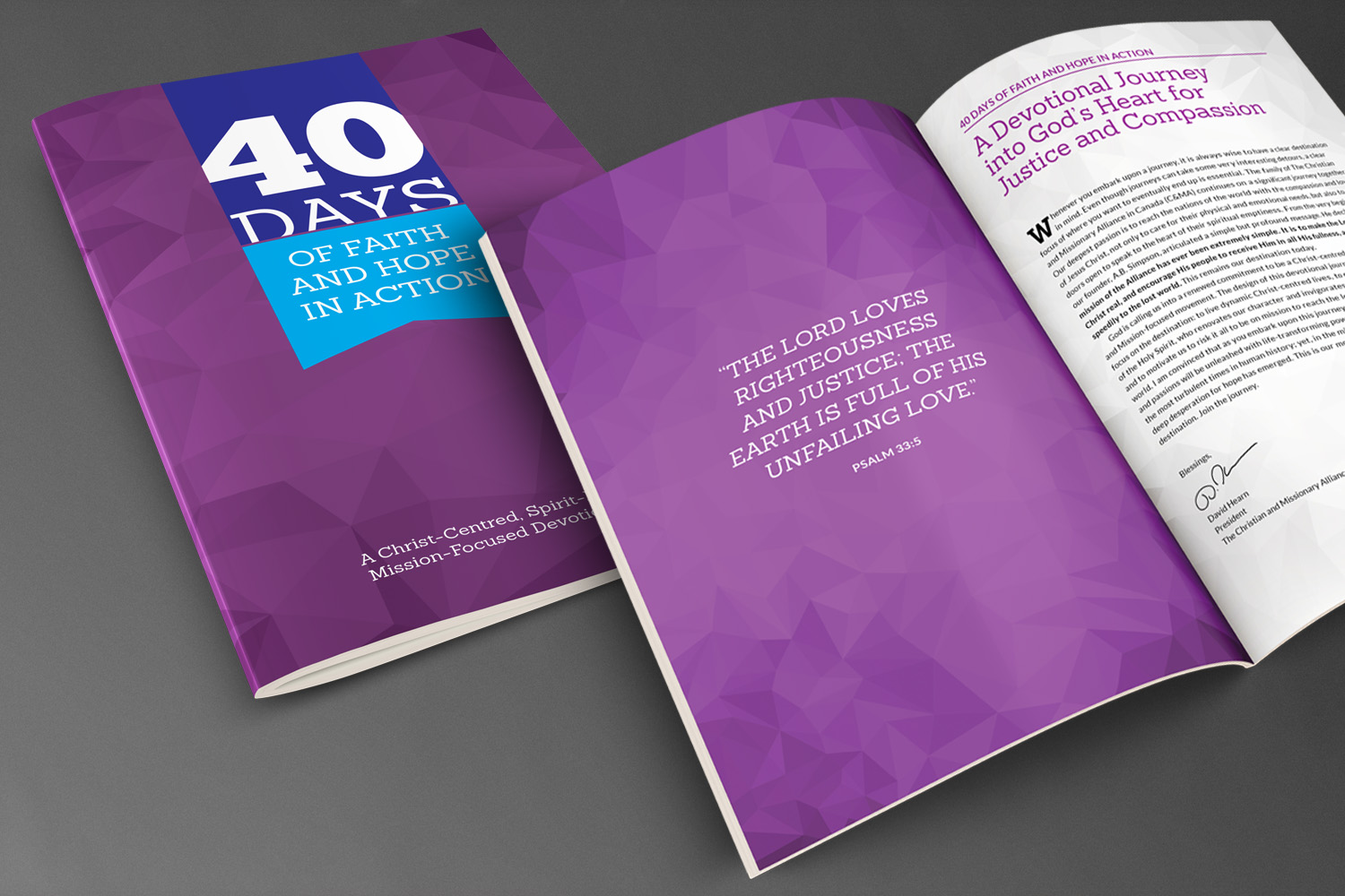 Alliance Justice and Compassion // 40 Days Devotional Booklet