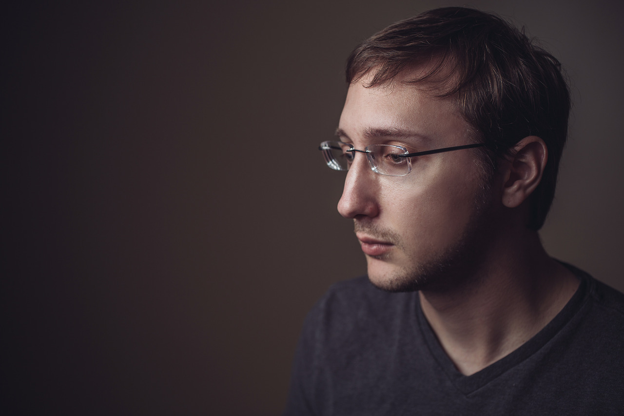 Shot this photo of Sam while testing out the lighting before we got together with Elijah.
