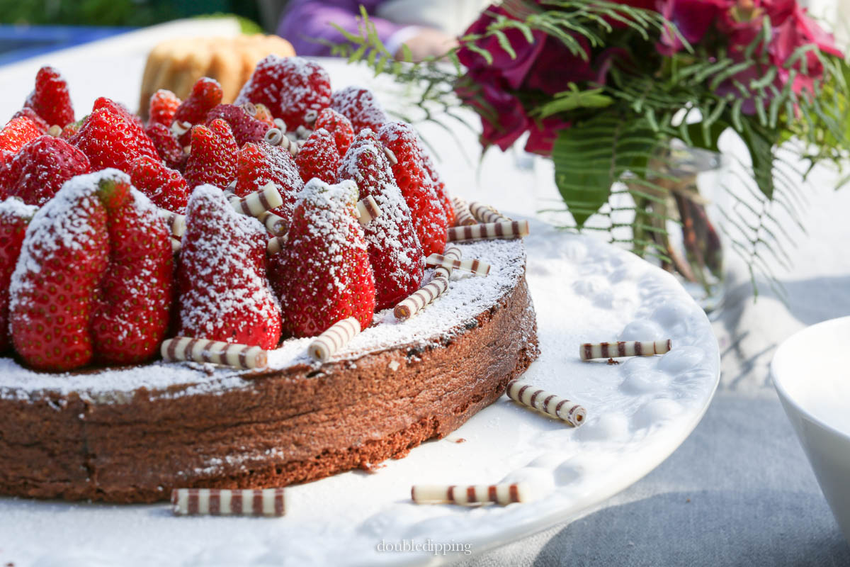 Strawberries and Chocolate Cake