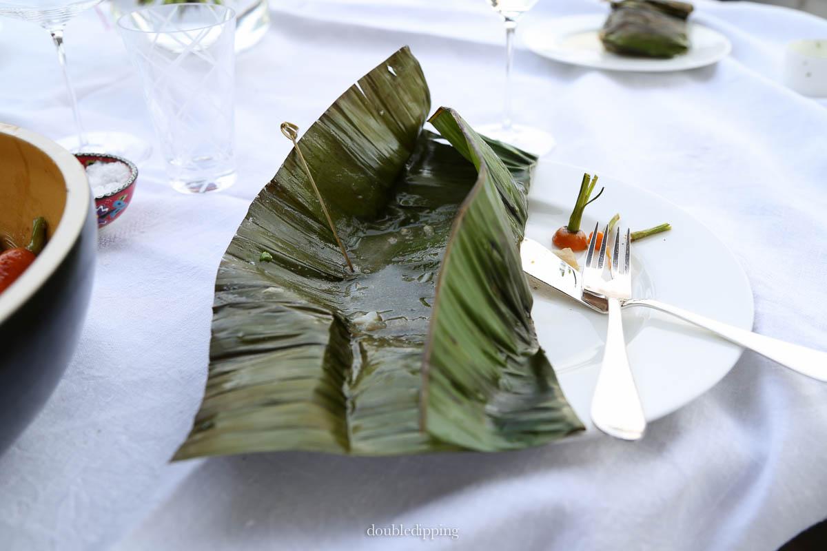 Miso Codfish in Banana Leaf