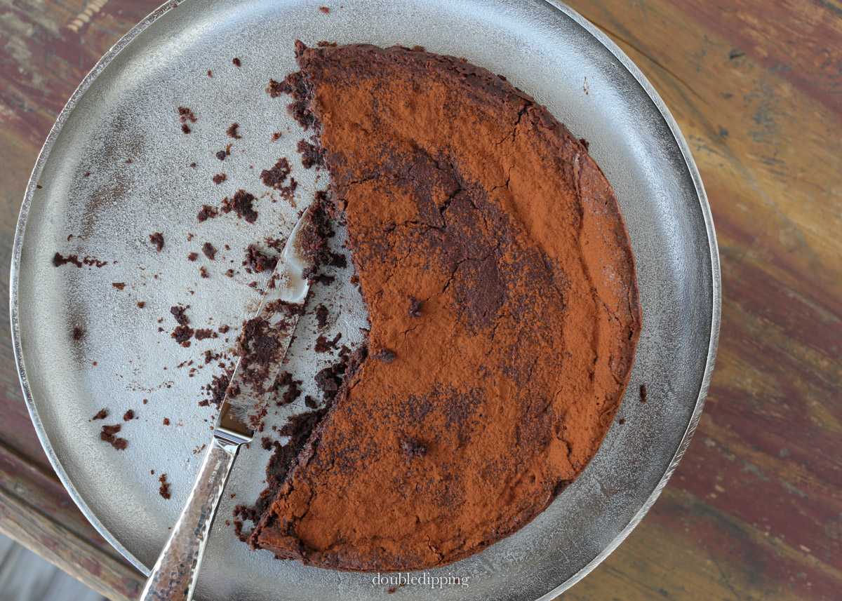 """This cake is """"cooked"""" on the stove first then baked in two seperate steps"""