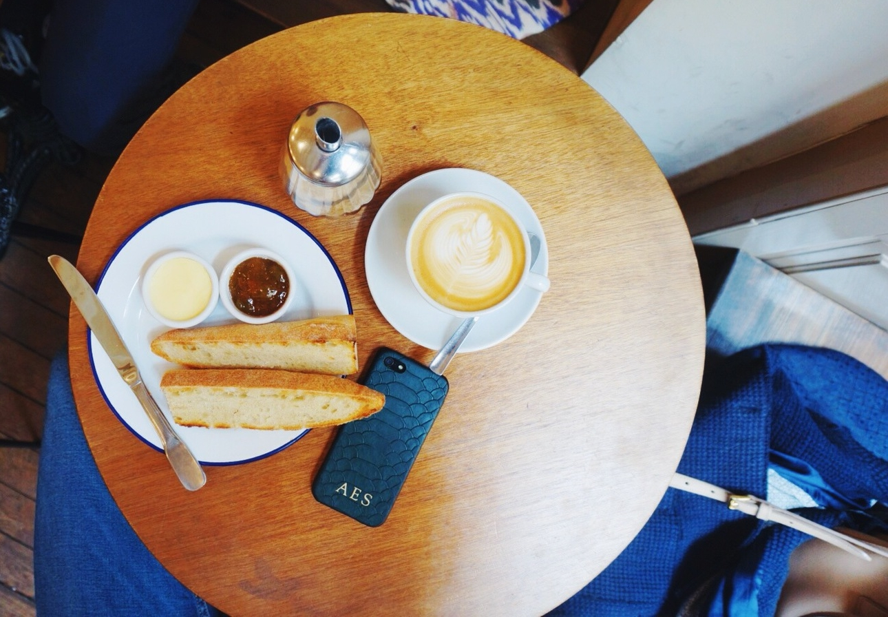 coffee and baguette