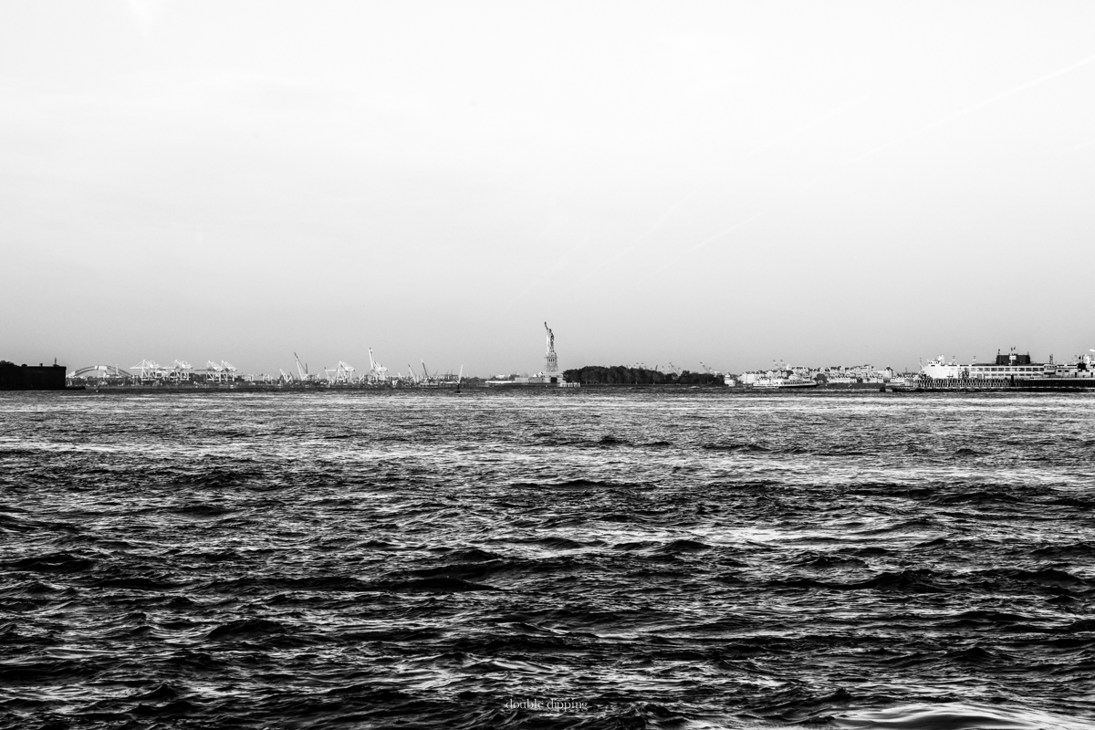 Staten Island, the Lady of Liberty and the Docks of New Jersey