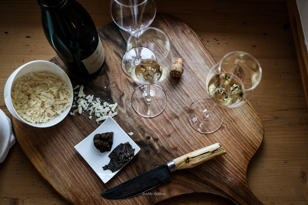 Parmesan Champagne and Truffles