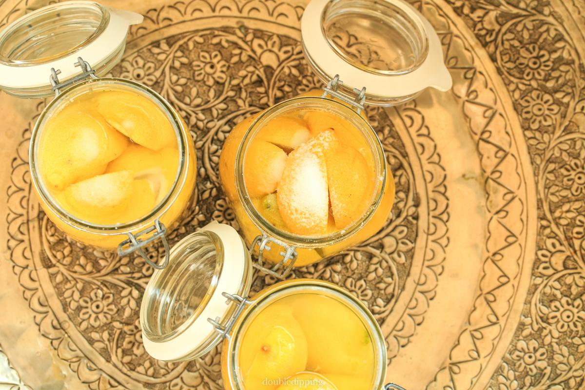 lemons in jars