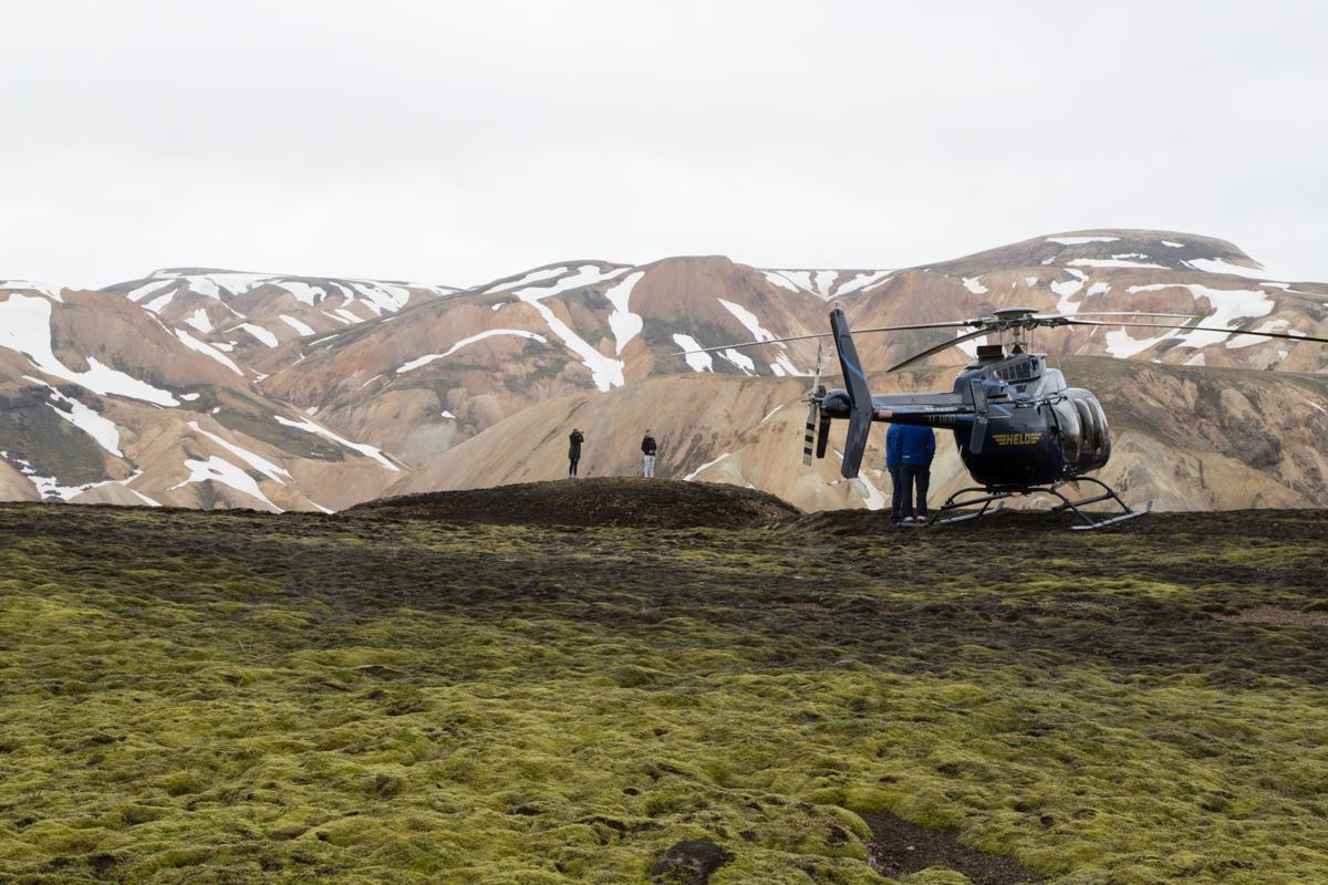Helicopter, Landmannalaugar