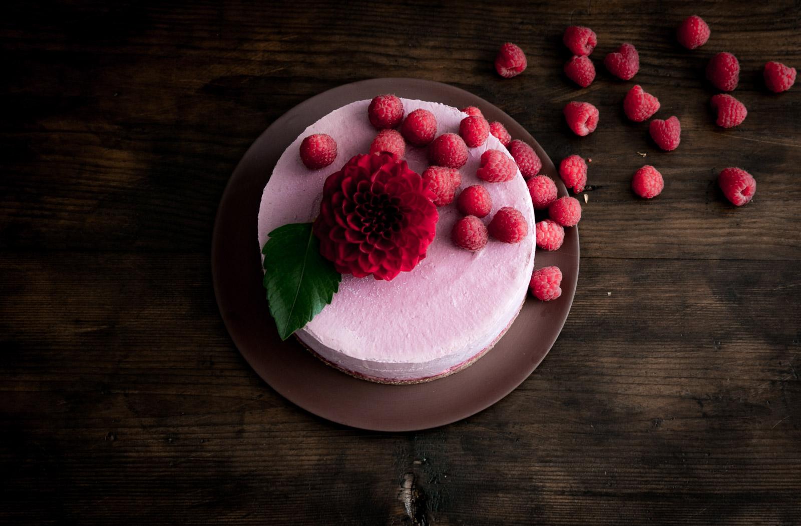 No Bake Raspberry