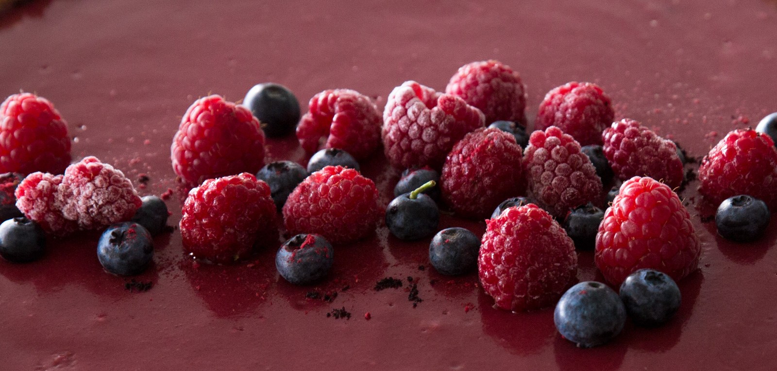 berries on a tart
