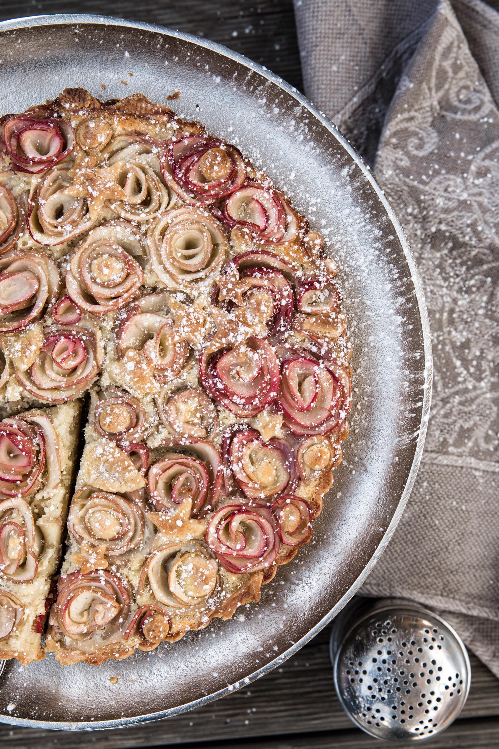 apple rose tart doubledippingblog