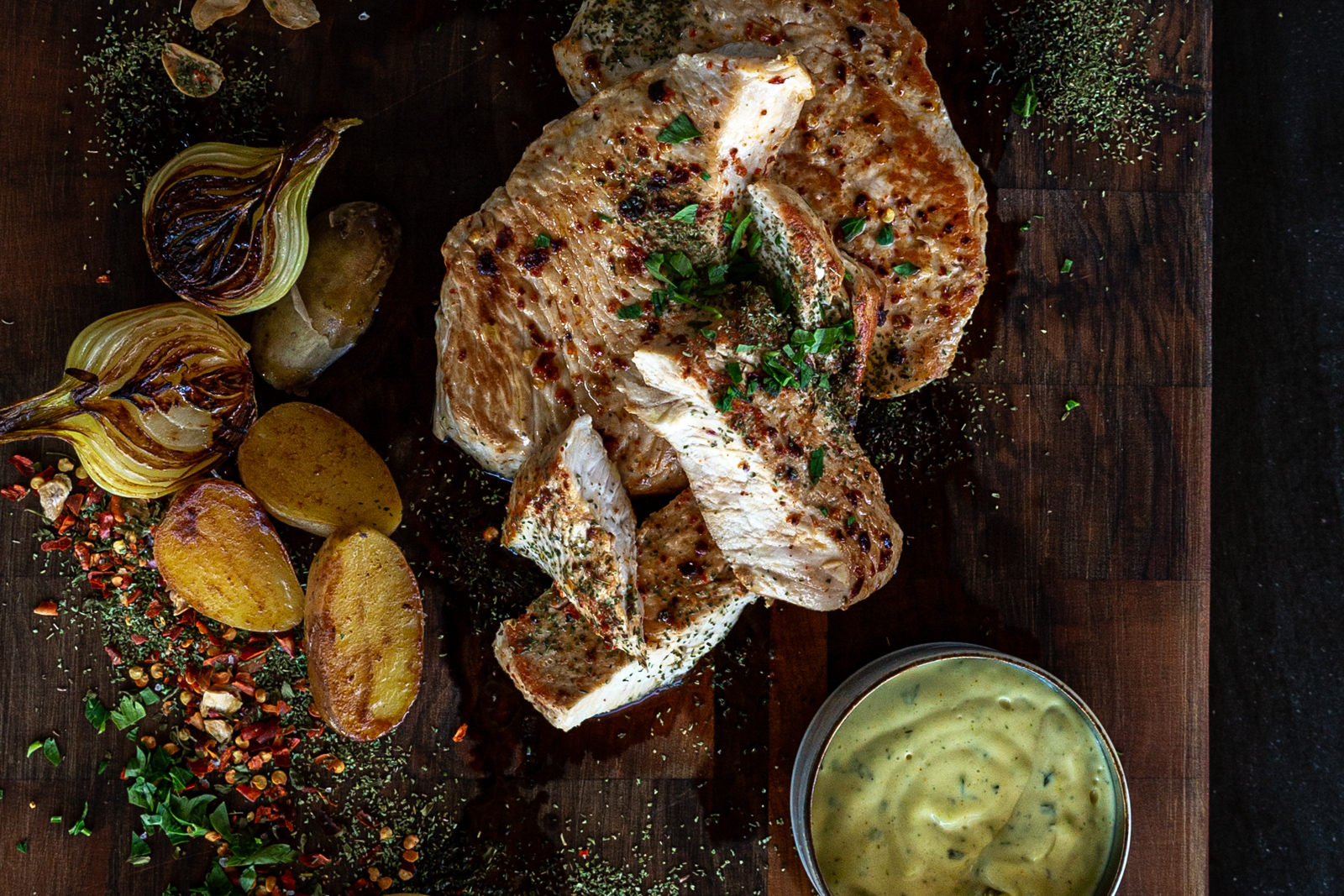 white meat and tarragon sauce