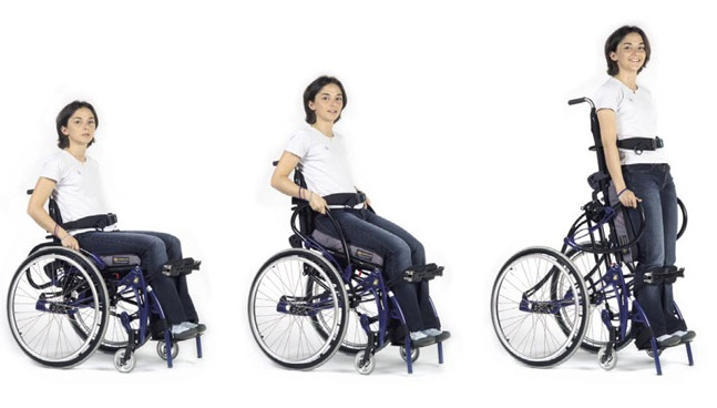 SITTING-TO-STANDING WITH THE LIFESTAND HELIUM STANDING WHEELCHAIR