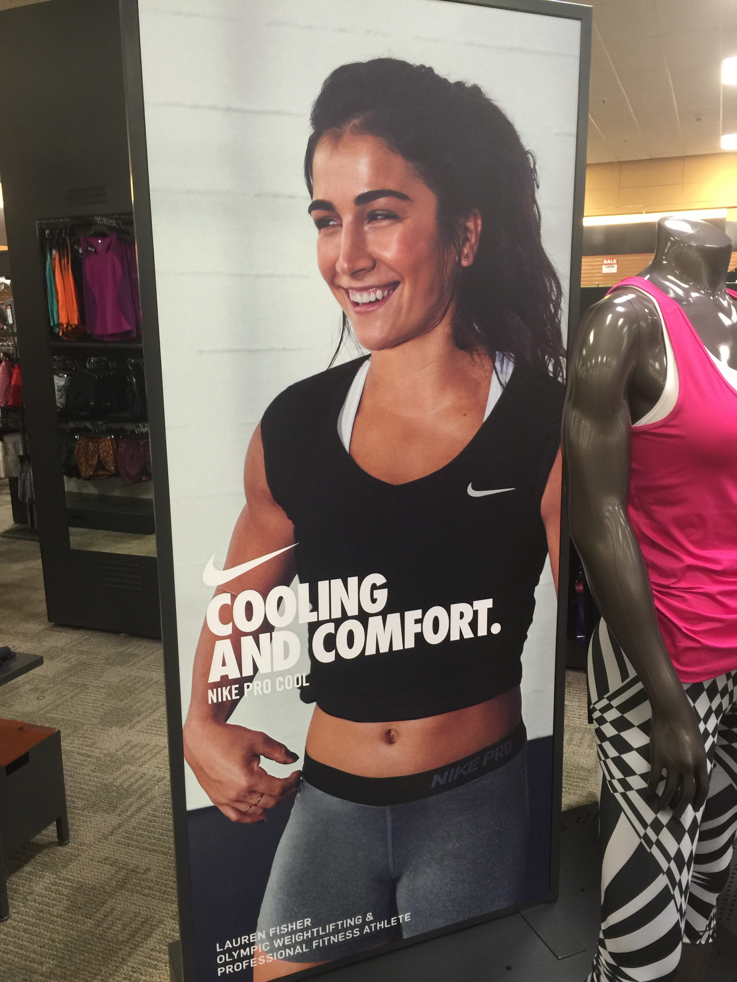 This was a Nike ad in Sport's Chalet. CrossFitter's infiltrating  the mainstream!