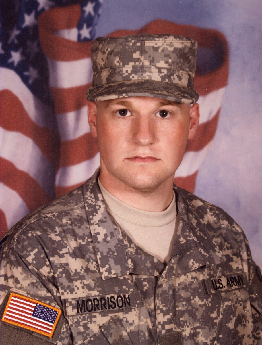 U.S. Army Specialist Scott Morrison, 23, of Blue Ash, Ohio, assigned to 584th Mobility Augmentation Company, 20th Engineer Battalion, 36th Engineer Brigade, based out of Fort Hood, Texas, died on September 26, 2010, from injuries suffered on September 25 when insurgents in Kandahar, Afghanistan attacked his vehicle with an improvised explosive device. He is survived by his father Donald, mother Susan, brother Gary, and sister Katie.