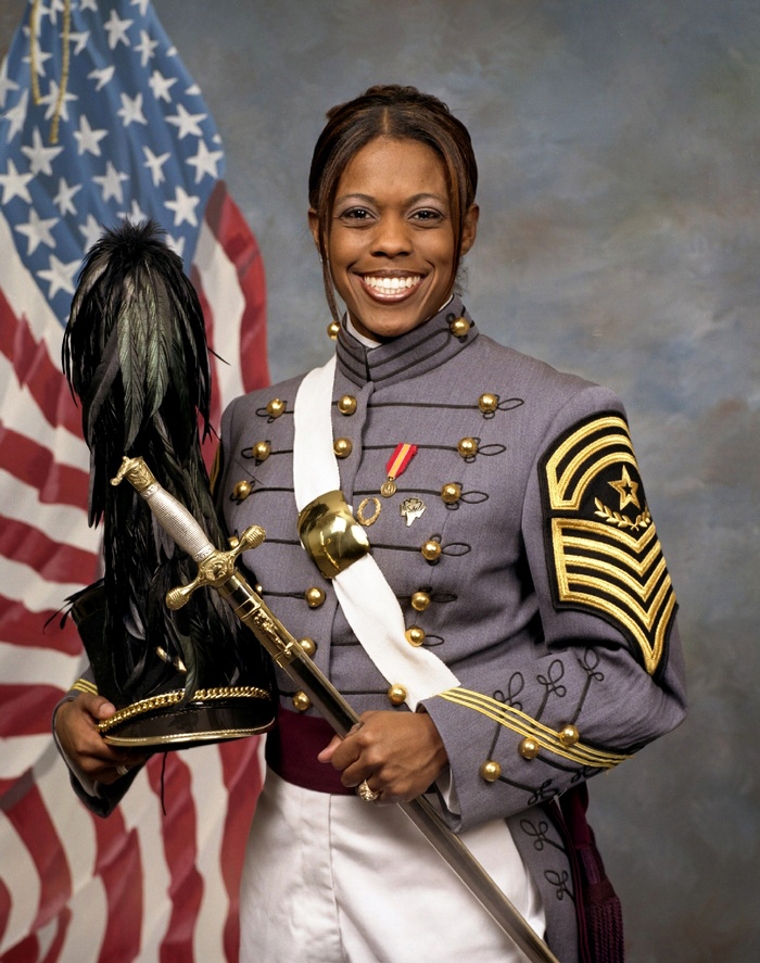 Second Lt. Emily Jazmin Tatum Perez, 23, was killed Sept. 12, 2006, when her Humvee was struck by an improvised explosive device as she was leading a convoy through Al Kifl, Iraq. She served in the 204th Support Battalion, 2nd Brigade, 4th Infantry Division of the U.S. Army.  Perez graduated from the U.S. Military Academy in 2005. She was an exemplary student and became the highest-ranking African-American female cadet in the history of West Point. An exceptional athlete, Perez was a sprinter on the track team (200 m) and competed in the triple jump. She also excelled at gymnastics and squats. Her favorite movements included sprinting, double-unders, pull-ups, squats and power cleans.  Perez earned numerous awards for her military service, including the Bronze Star, Purple Heart, Army Commendation Medal, National Defense Service Medal, Iraq Campaign Medal, Global War on Terrorism Service Medal, Army Service Ribbon, Overseas Service Ribbon, and the Combat Action Badge. She was also posthumously awarded the NCAA Award of Valor in 2008.  Perez was the first female African-American officer in U.S. military history to die in combat and the first female West Point graduate to die in the Iraq War. She is survived by her parents, Daniel and Vicki; brother, Kevyn; and many classmates and friends.
