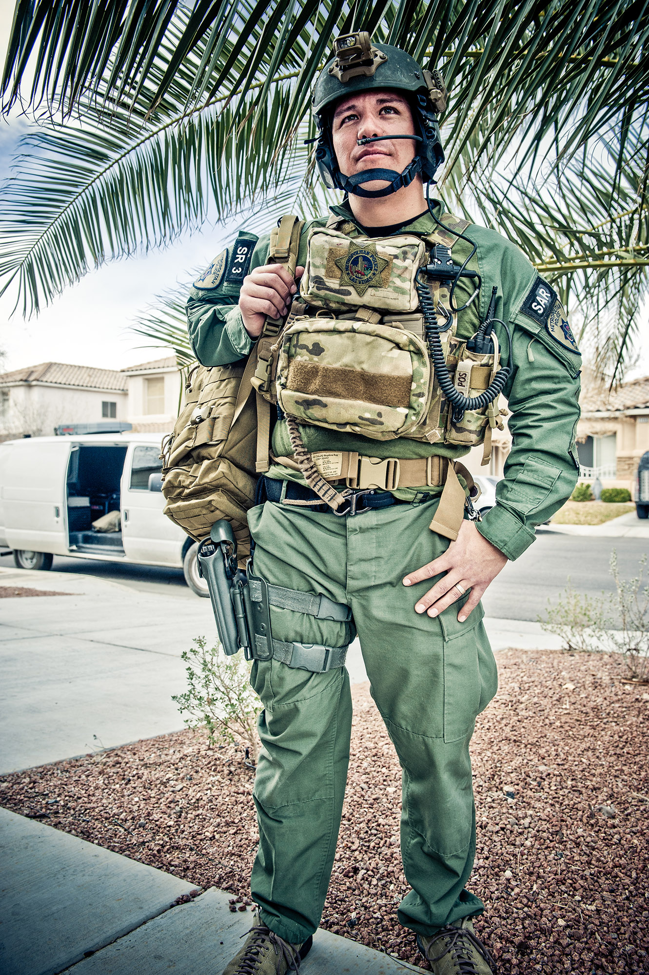 Officer David Vanbuskirk, 36, of Henderson, Nevada, was killed on July 23, 2013, when he fell during a nighttime aerial rescue mission in Las Vegas, Nevada. Vanbuskirk had been employed with the Las Vegas Metropolitan Police Department since 1999 and joined the elite Search and Rescue Team in 2007.  Vanbuskirk is survived by his wife, Adriana; sister, Jenny; and mother, Pat. He is preceded in death by his father, Red; and brother; Michael.