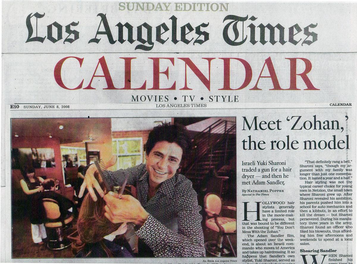 "LA Times introducing Yuki as ""Zohan"" in June 2008"