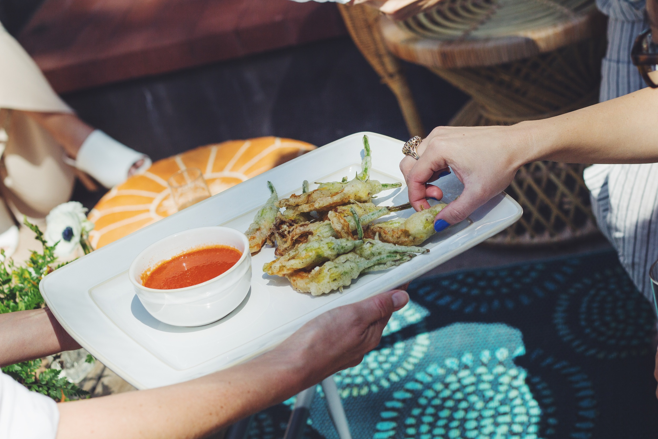 Fried Zucchini Blossoms. I could not get enough of this!