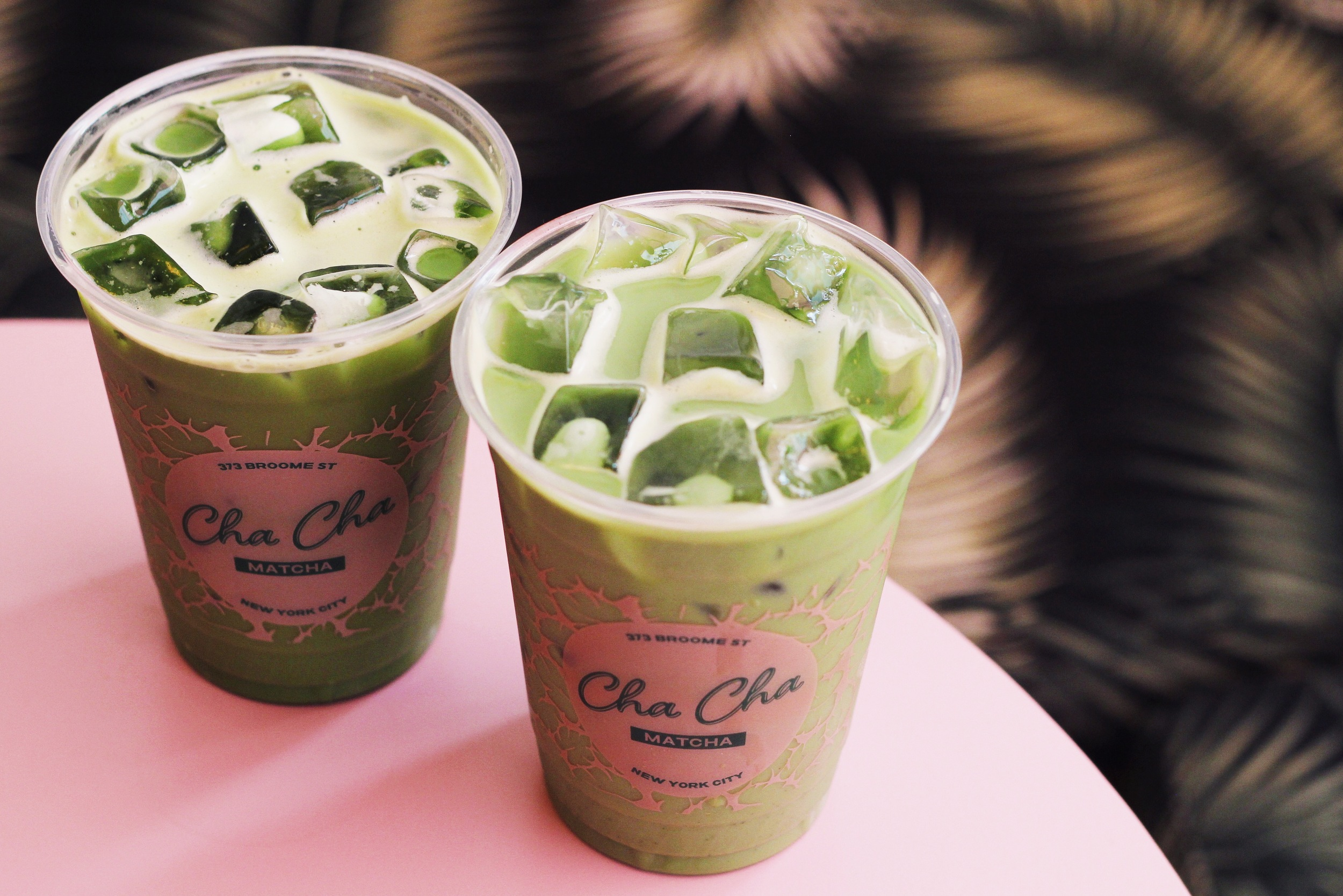 """Iced Green Tea Latte with Almond Milk""  at     Cha Cha Matcha"