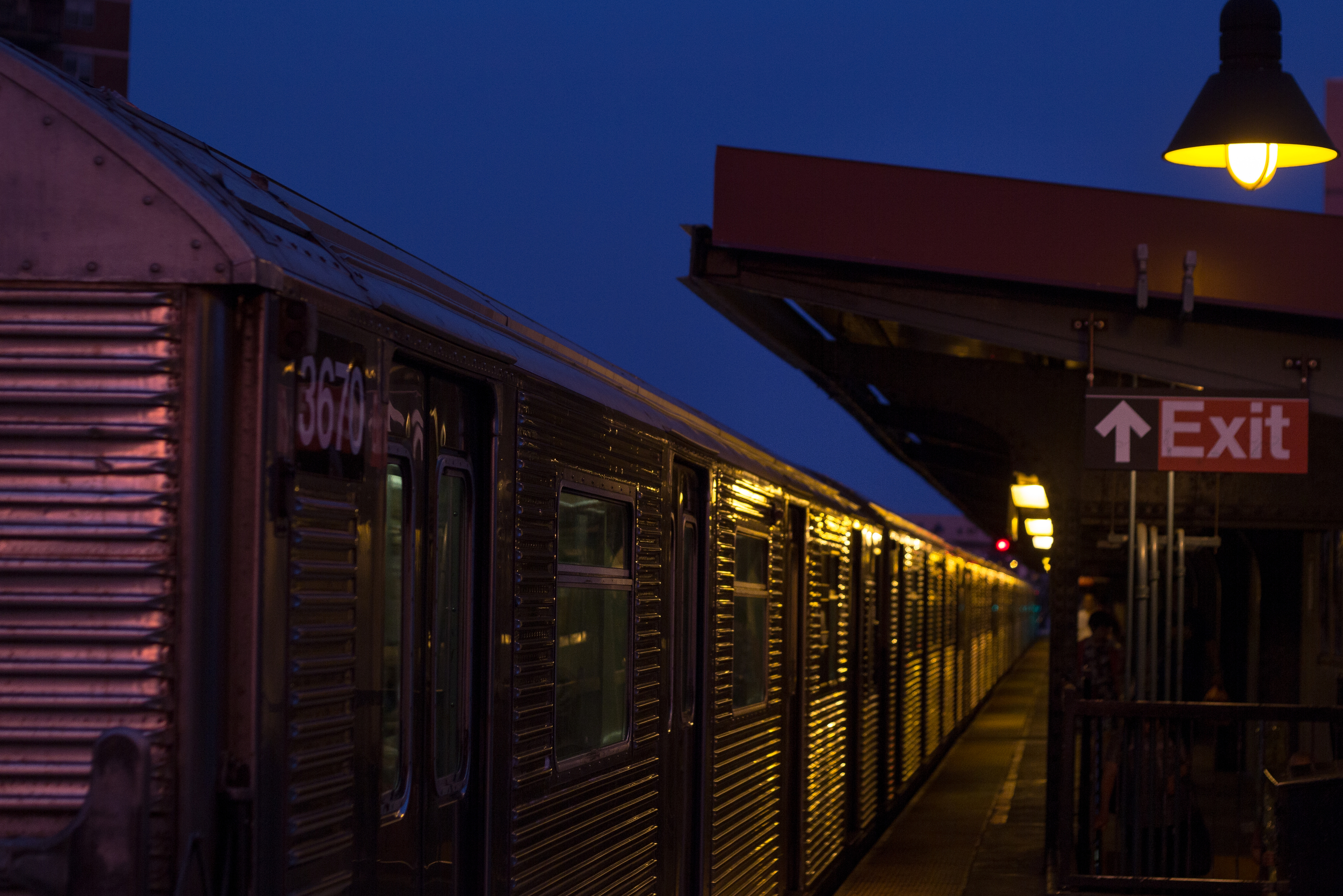 Lorimer Station at night