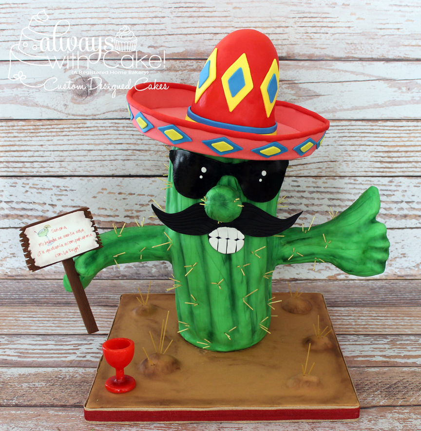 Paco the Birthday Cactus Man Cake