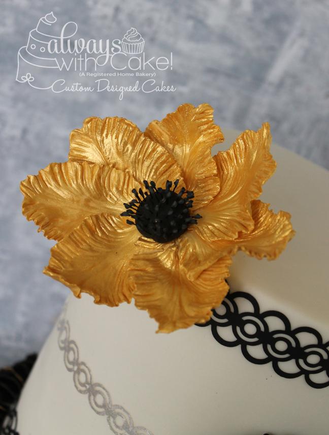 Gumpaste Gold Flower