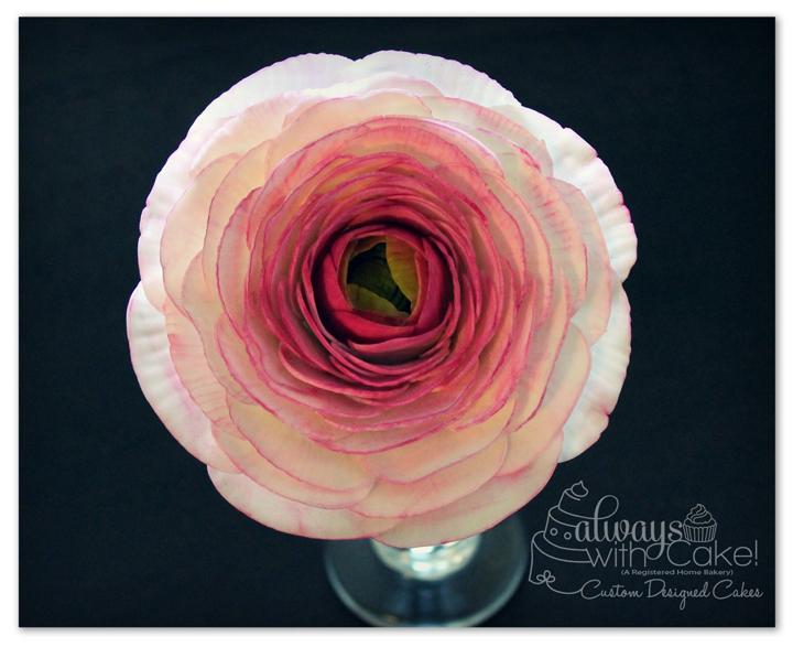 Ranuncula Gumpaste Flower