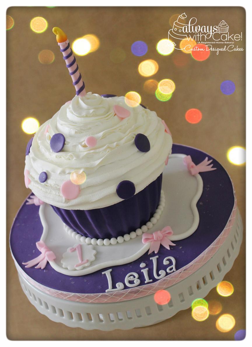 Polka Dot Giant Cupcake Smash Cake