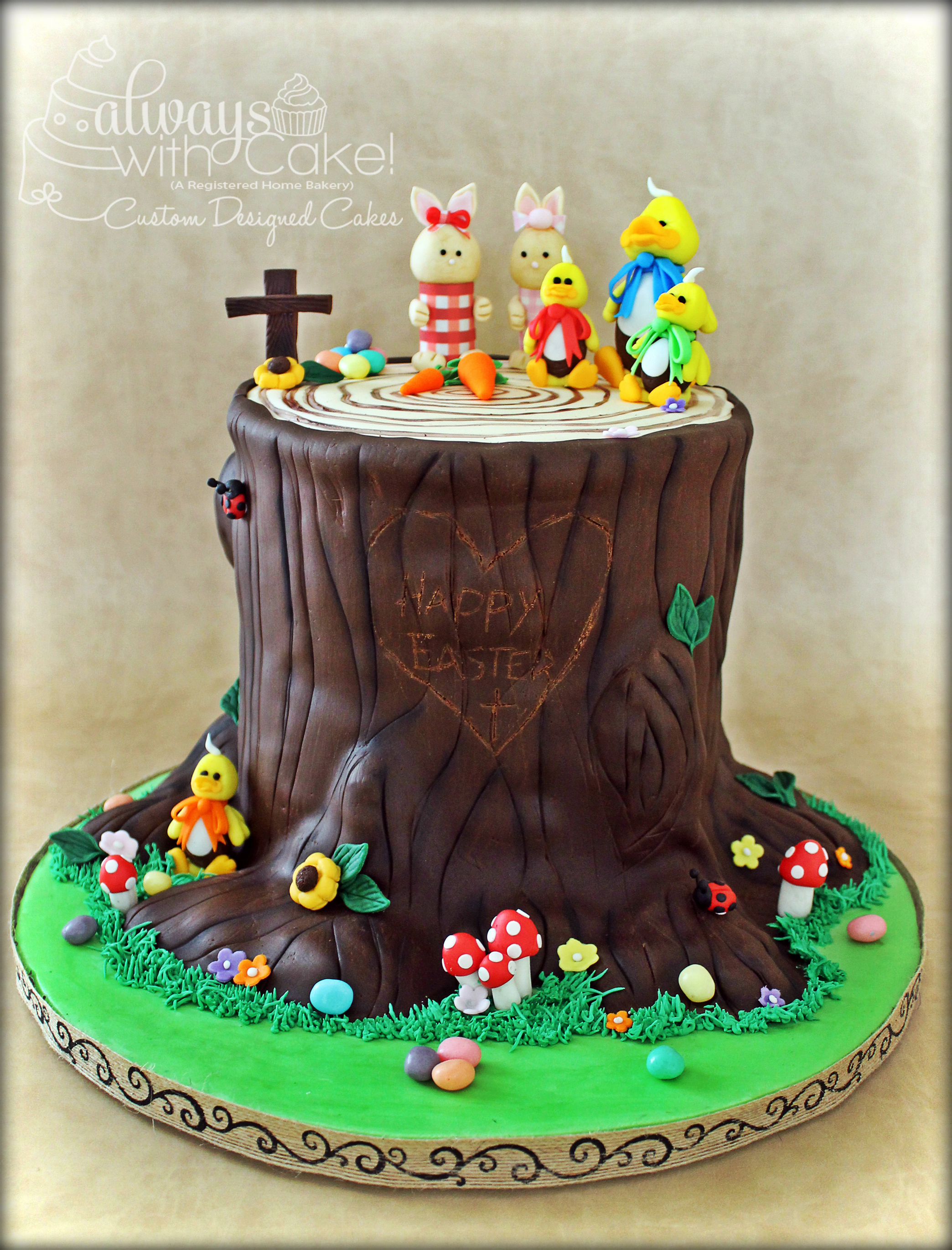 Easter Tree Service Cake