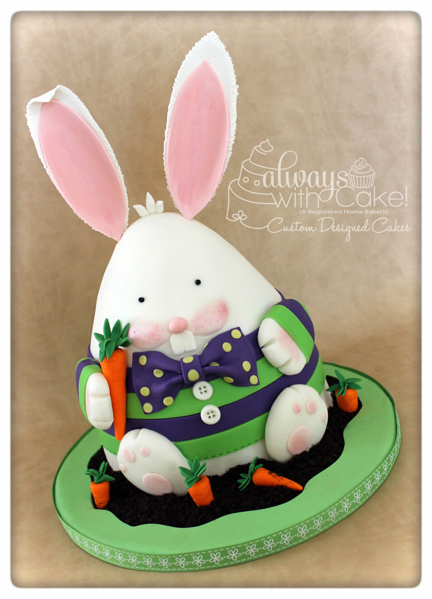 Fred the Easter Bunny Cake