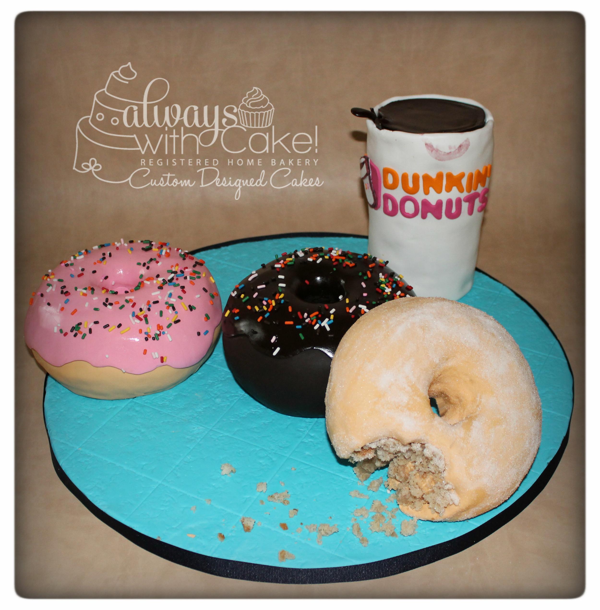 Coffee & Donuts Birthday Cake