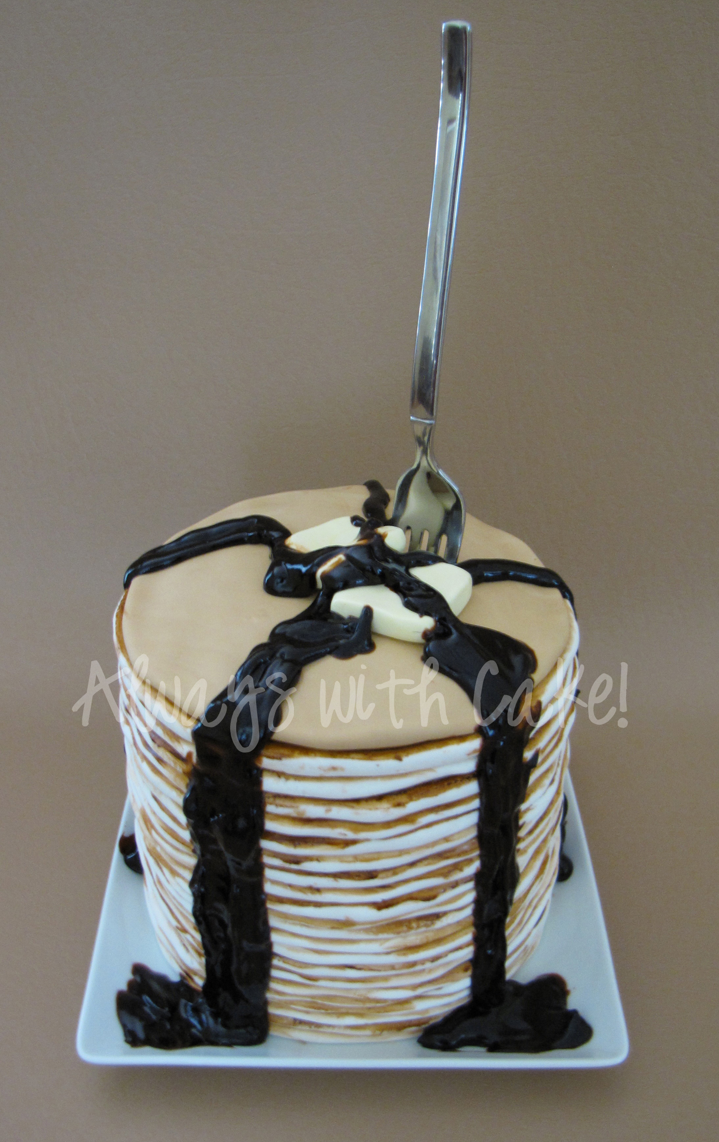 Mother's Day Pancakes Cake