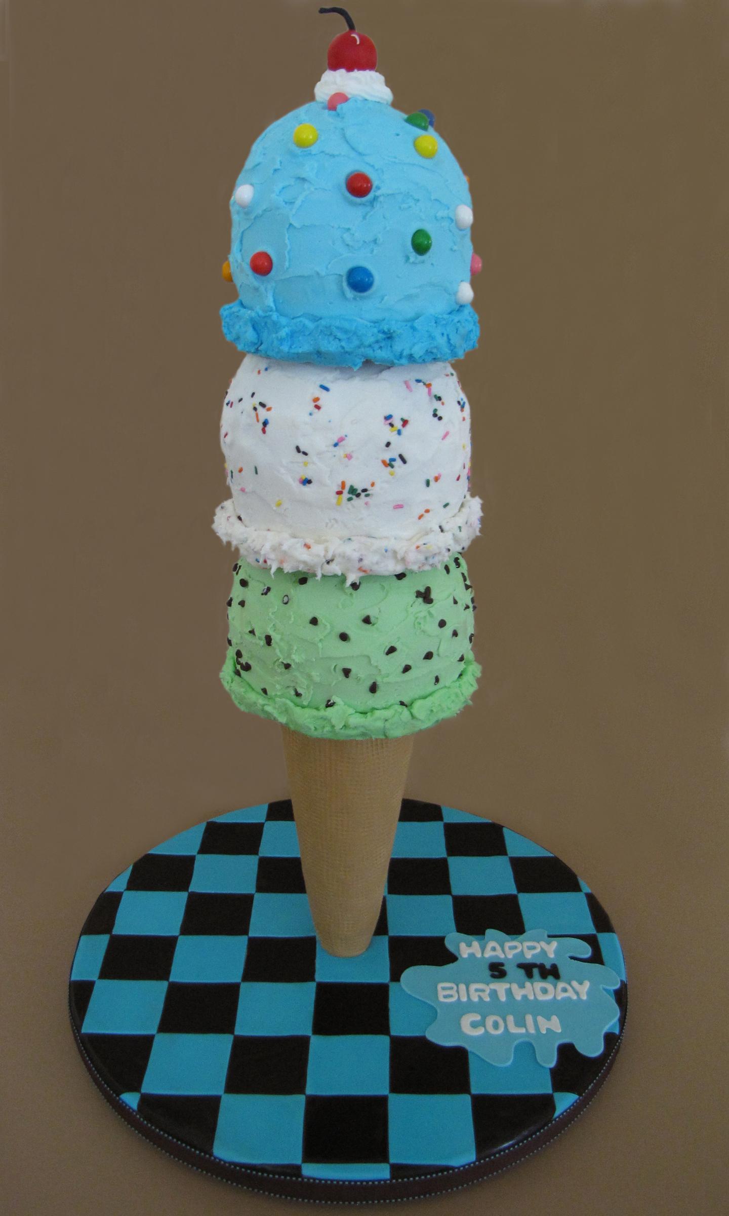We All Scream for Ice Cream Cake
