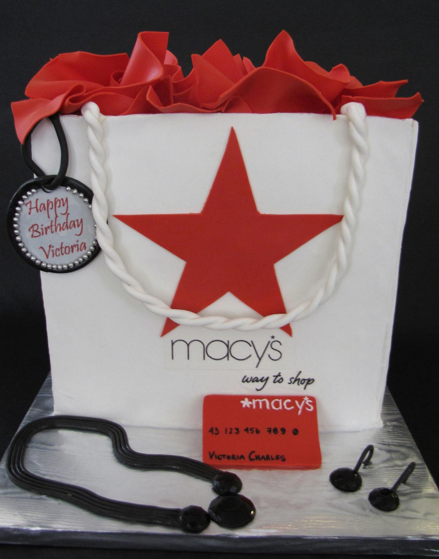 Shopping at Macy's Birthday Cake