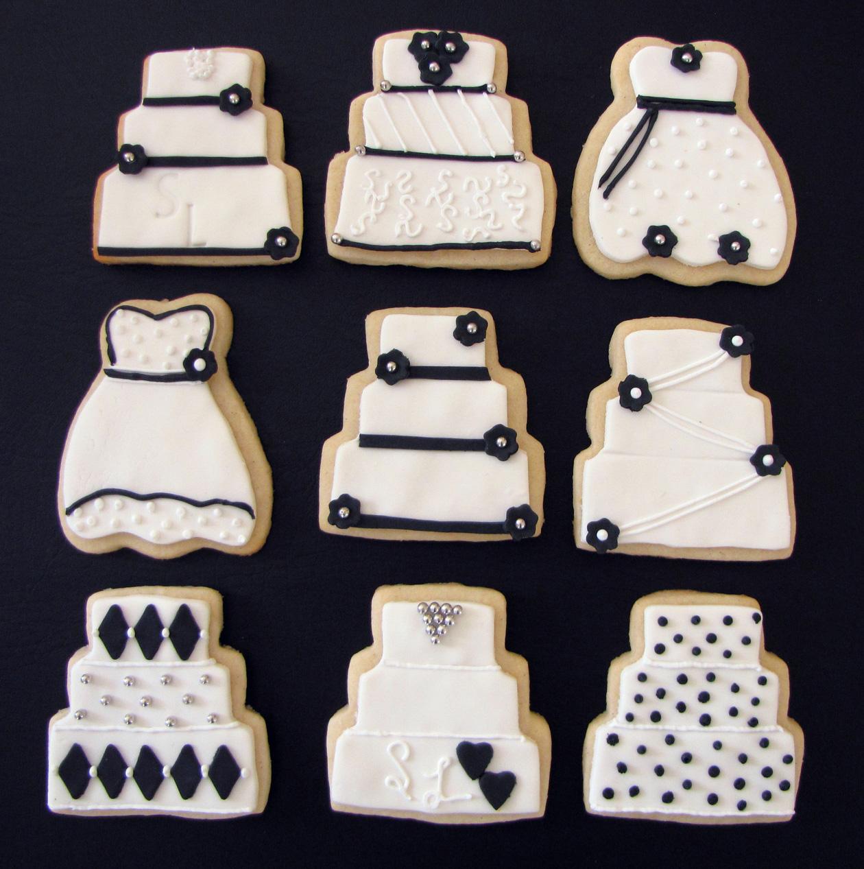Wedding Cake's & Wedding Dress Cookies