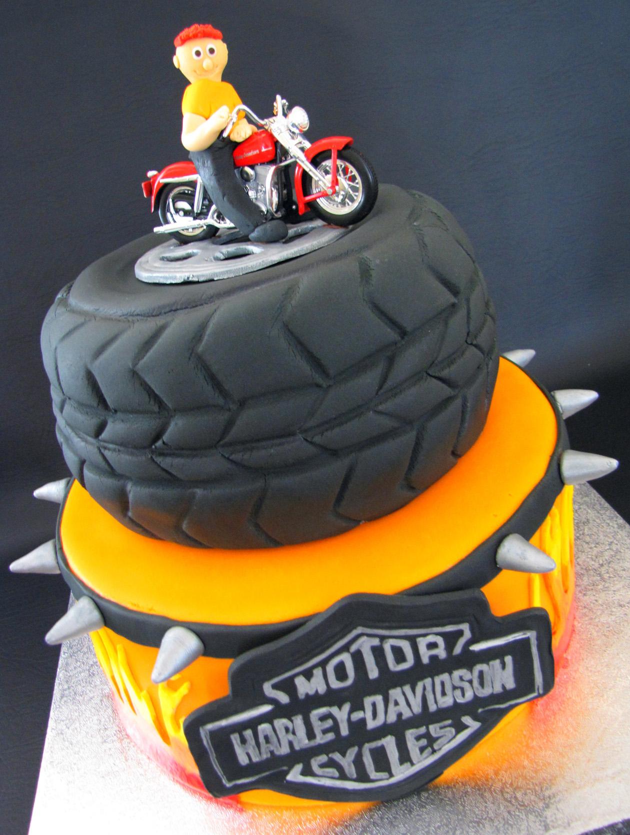 Harley Lover's Birthday Cake