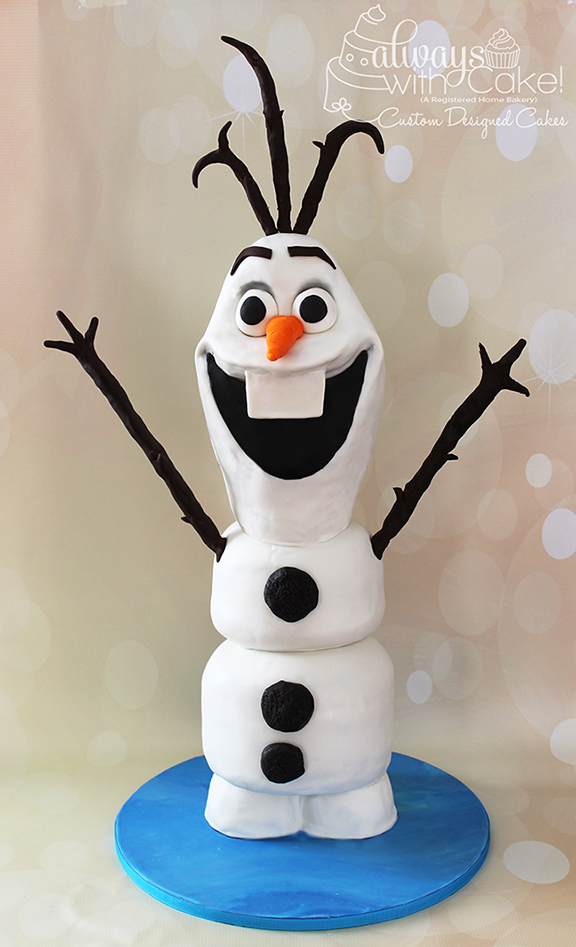 3D Olaf Birthday Cake