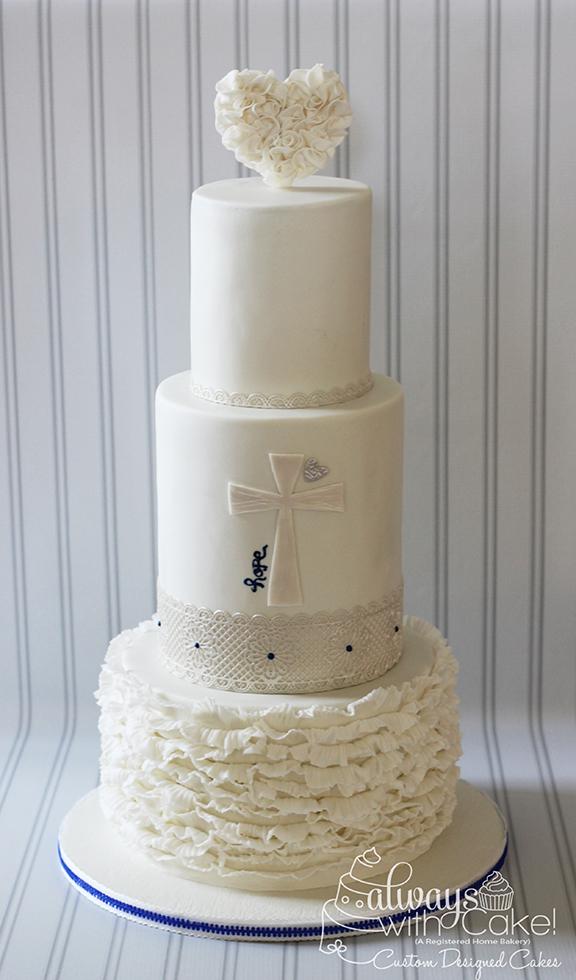 Faith Love Hope Wedding Cake
