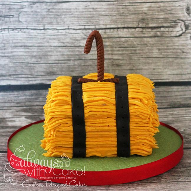 Bale of Hay Smash Cake